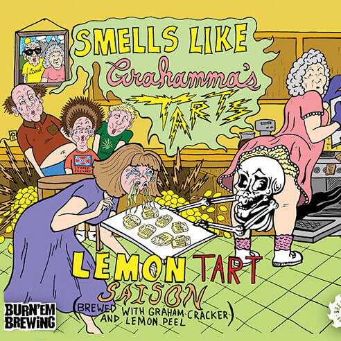 Smells Like Grahamma's Tarts Lemon Tart Saison